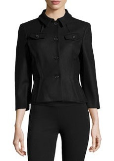 Michael Kors Contour-Waist 3/4-Sleeve Jacket