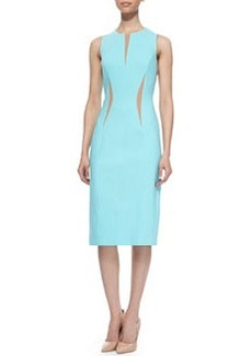 Michael Kors Contrast Fitted Dress