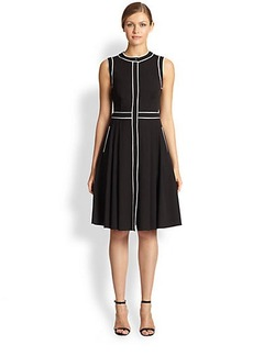 Michael Kors Contrast-Piping Poplin Dress
