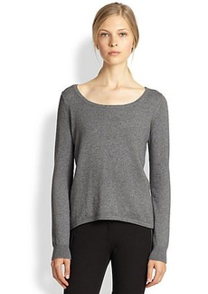 Michael Kors Cotton & Cashmere Elliptical Sweater