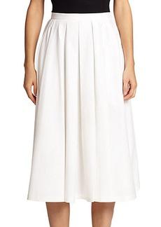 Michael Kors Cotton Poplin Skirt