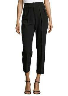 Michael Kors Crepe Crpped Pants, Black