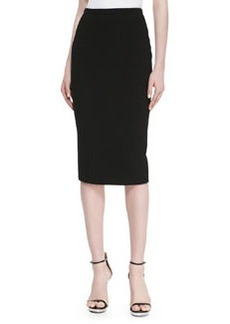 Michael Kors Crepe Pencil Skirt, Black