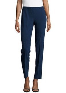 Michael Kors Crepe Skinny Side-Zip Pants, Indigo