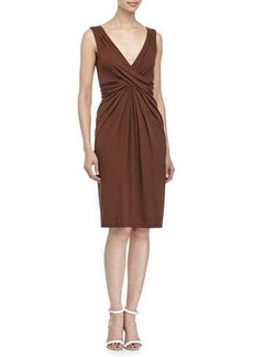 Michael Kors Crisscross-Front Dress, Nutmeg