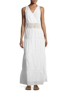 Michael Kors Crochet-Trim Maxi Dress