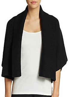 Michael Kors Cropped Cashmere & Wool Shawl Cardigan