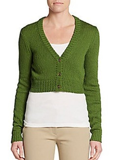 Michael Kors Cropped Knit Cardigan