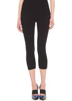 Michael Kors Cropped Wool-Blend Jersey Leggings