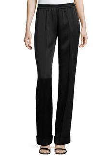 Michael Kors Cuffed-Hem Pajama Pants, Black