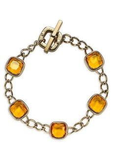 Michael Kors Cushion Stone Curb Chain Bracelet