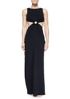Michael Kors Cutout-Waist Jersey Maxi Dress