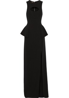 Michael Kors Cutout wool-blend gown