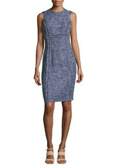 Michael Kors Denim Tweed Sheath Dress