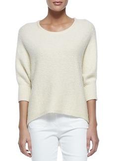 Michael Kors Dolman-Sleeve Crewneck Sweater, Vanilla