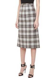 Michael Kors Dorset Plaid Wool Skirt
