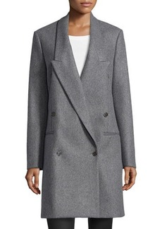 Michael Kors Double-Breasted Long-Lapel Coat, Banker