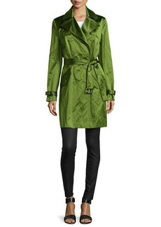 Michael Kors Double-Breasted Mini Trench Coat, Grass