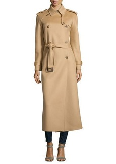 Michael Kors Double-Breasted Trench Coat, Fawn