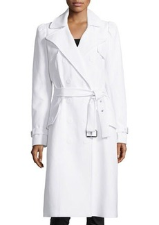 Michael Kors Double-Breasted Trench Coat, Optic White