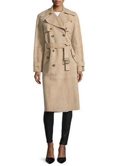 Michael Kors Double-Breasted Trench Coat, Sand