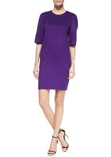 Michael Kors Double-Face Shift Dress, Grape