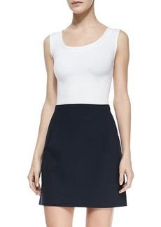 Michael Kors Double-Face Stretch Skirt