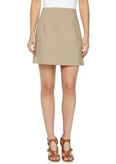 Michael Kors Double-Face Stretch Skirt, Hemp
