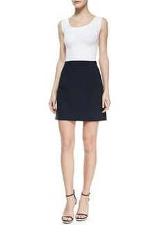 Michael Kors Double-Face Stretch Skirt, Midnight