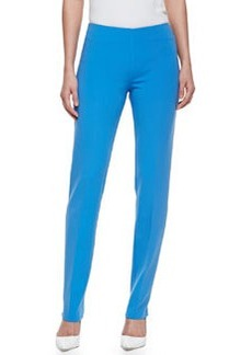 Michael Kors Double-Faced Slim Pants, Sea