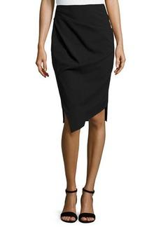 Michael Kors Drape Front Pencil Skirt, Black
