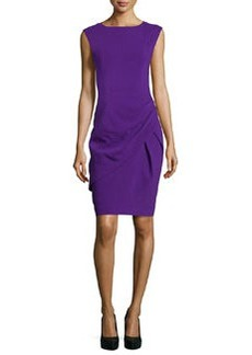 Michael Kors Draped Sheath Dress, Grape