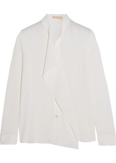 Michael Kors Draped silk-crepe blouse