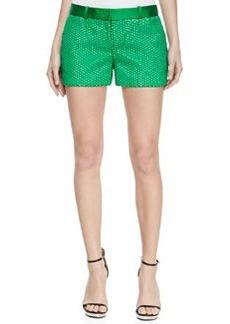 Michael Kors Duchesse Palette Mini Shorts, Palm