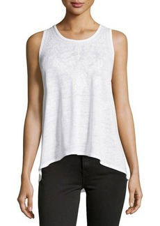 Michael Kors Embroidered High-Low Tank