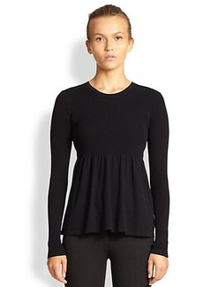 Michael Kors Empire Peplum Tee