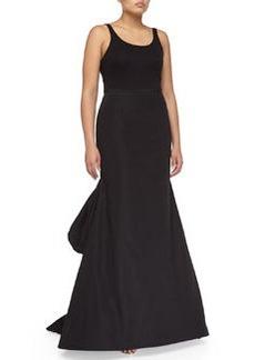 Michael Kors Faille Bustle Skirt, Black