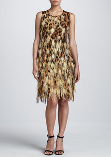 Michael Kors Feathered Shift Dress