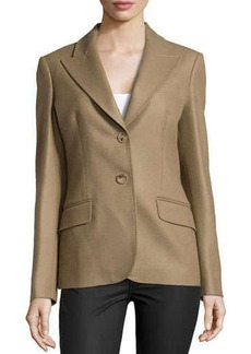 Michael Kors Felted Two-Button Jacket, Chino