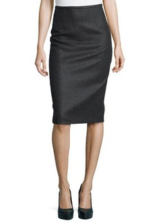 Michael Kors Felted Wool Pencil Skirt, Charcoal