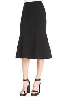 Michael Kors Fitted Stretch Flare-Hem Skirt