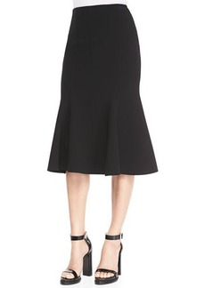 Michael Kors Fitted Stretch Flare-Hem Skirt