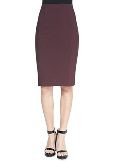 Michael Kors Fitted Stretch Pencil Skirt