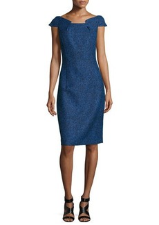 Michael Kors Fitted Tweed Dress