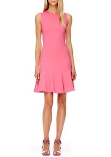 Michael Kors FLARE Flare-Skirt Dress, Carnation