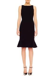 Michael Kors Flare-Hem Crepe Dress