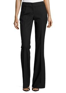 Michael Kors Flared Crepe Trousers, Black