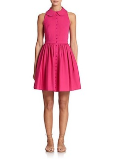 Michael Kors Flared Poplin Shirtdress