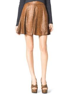 Michael Kors Flared Python Skirt