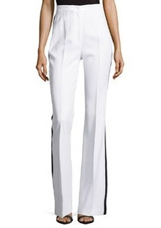 Michael Kors Flared Tuxedo Trousers, Optic White